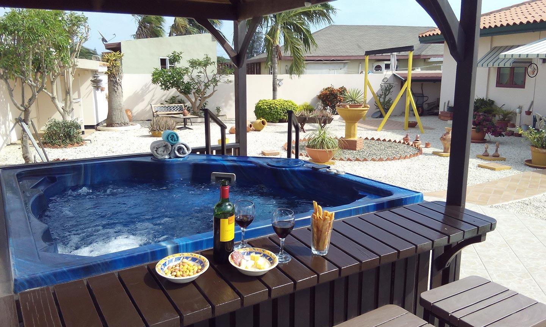 Jacuzzi - Vakantiehuis Aruba